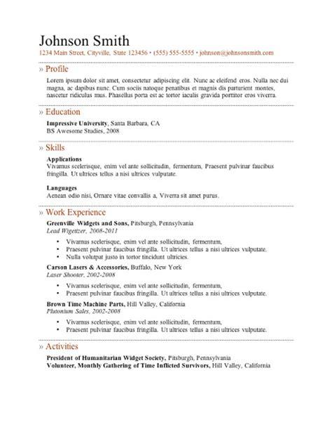 free resume sles sle resumes