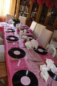 decoration de table  ma mere  realise pour les  ans