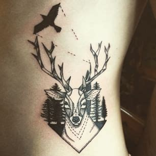 bird deer  wolf tatoo hipster tattoo tattoos