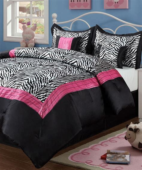 beatrice home pink sassy zebra comforter set twin