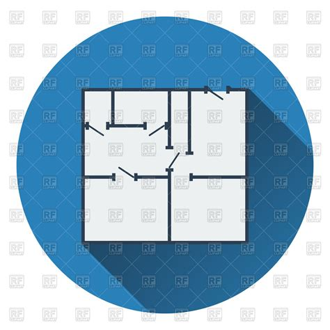 Icon Of Apartment Plan Flat Design Vector Image Vector