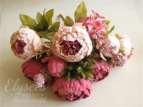 artificial peony flower picture more detailed picture about 1 boutique home decorative