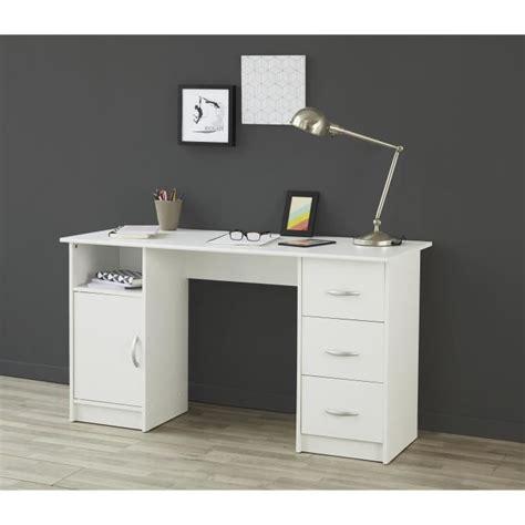 achat mat駻iel de bureau essentielle bureau 135 cm blanc achat vente bureau