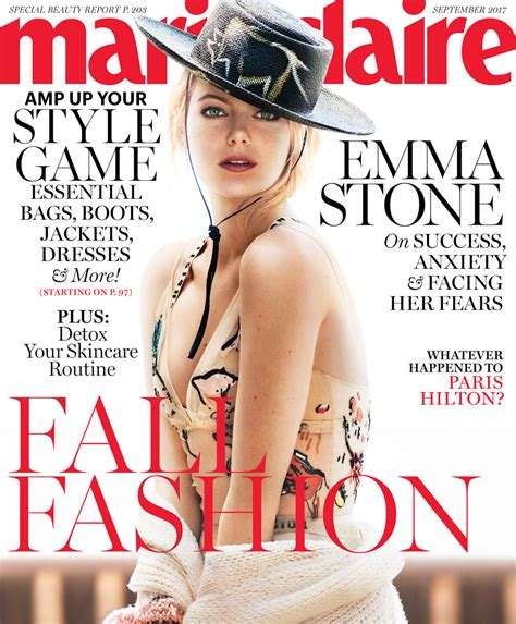 Emma Stone Covers The September Issue Of Marie Claire