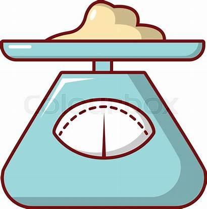 Cartoon Scales Kitchen Icon Vector Colourbox Illustration