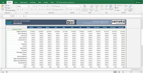 profit  loss spreadsheet template spreadsheet templates