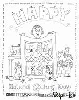 Coloring Quilting National Pages Printable Sheet Birthday Sweet Lou Printables Skip Skiptomylou Template sketch template