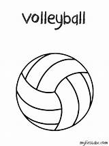 Volleyball Coloring Pages Ball Print Drawing Volley Easy Printable Templates Template Sport Sheets Clipart Sketch Getdrawings Popular Abc sketch template
