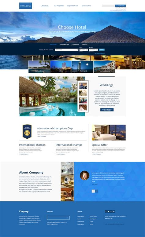 Luxury Hotel Web Templetes  F1 Freebies  Free Psd