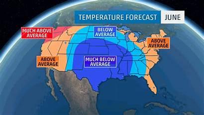 Summer Weather Forecast Average Below Temperatures Channel