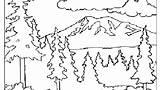 Coloring Mountain Range Printable Mountains Getdrawings sketch template