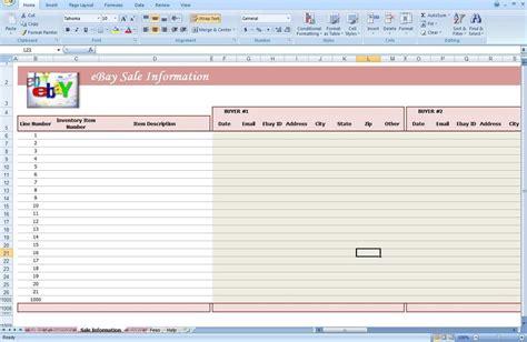 ebay spreadsheet template excelxocom