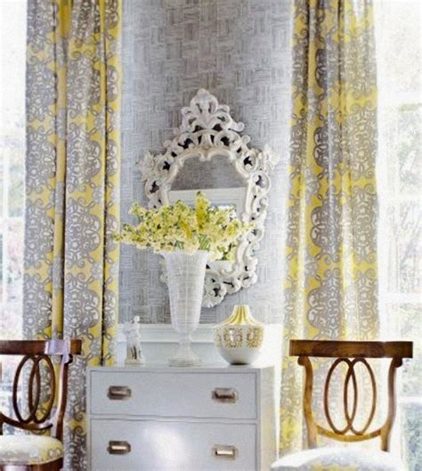yellow white and gray curtains yellow grey