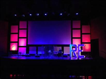 Stage Church Backdrops Backdrop Lighting Churchstagedesignideas Designs