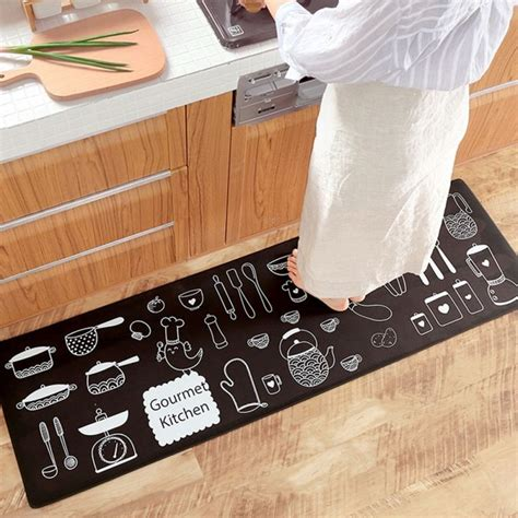 kitchen mat waterproofoil proof pvc leatheranti fatigue