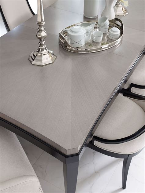 extendable rectangular dining table symphony platinum black tie extendable rectangular