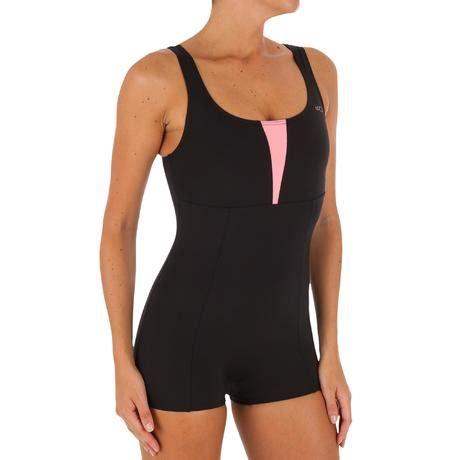 karol shorty womens  piece aquafitness swimsuit black orange nabaiji