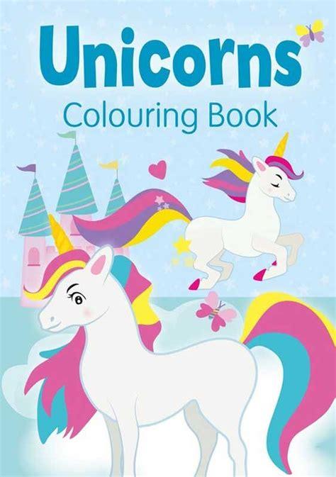 unicorns colouring book blue wholesale