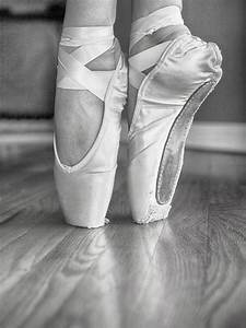 Ballet Pointe Shoes In Black And White Photograph by Lori ...