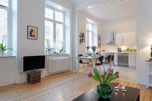 wohnung ideen einrichtung swedish 58 square meter apartment interior design with open floor plan digsdigs