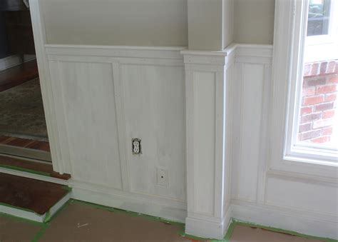 Wainscoting Square Panels by How To Install Chair Rail With Flat Panel Wainscoting