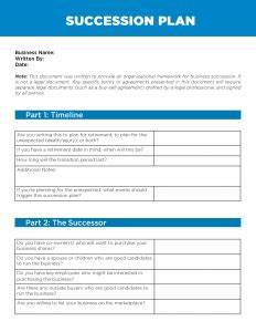 succession plan template hospinoiseworksco With credit union succession plan template