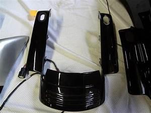 Complete 2009 Flhx Black Rear Fender  Extra Fascia  Road