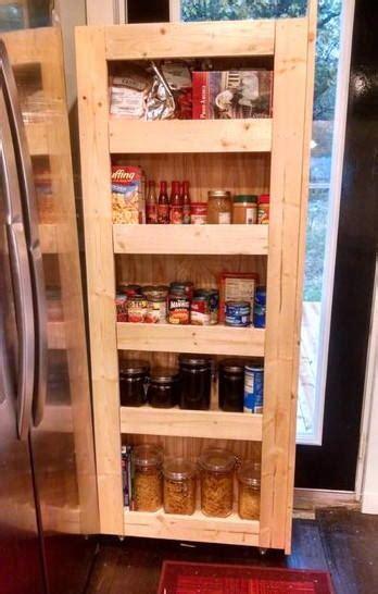 diy kitchen storage diy rolling pantry storage diyideacenter 3410