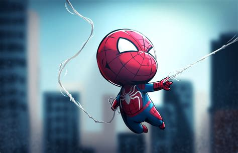 chibi spiderman hd superheroes  wallpapers images