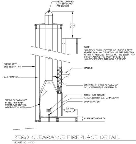 fireplace detail examples house plan drafting courses