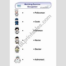 Matching Exercise  Occupation  Esl Worksheet By Tracytsoi