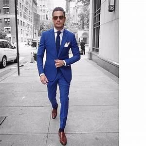 Costume Décontracté : italien style bleu mari smokings homme d contract ~ Louise-bijoux.com Idées de Décoration