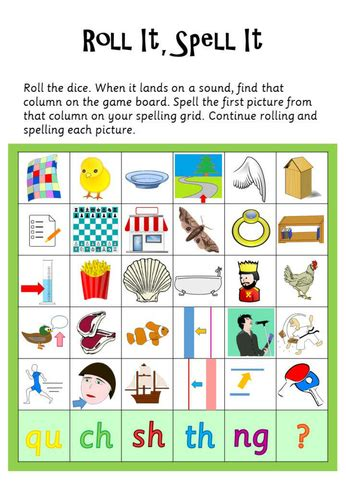 phonics phase  roll  spell  projects