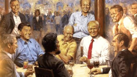 critics unload  tacky  trashy painting  trump