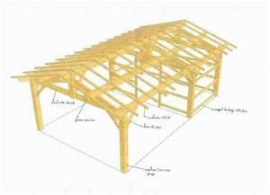 Hangar En Kit Bois : plan charpente hangar bois gratuit ~ Premium-room.com Idées de Décoration