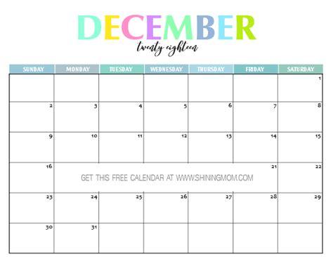 printable  calendar pretty  colorful