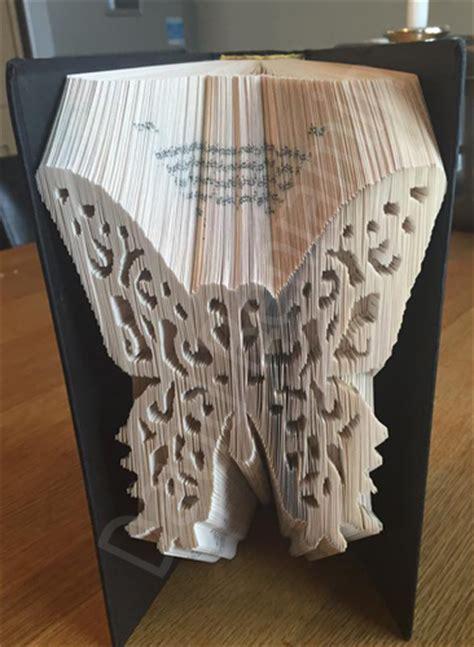 Elegant Butterfly  Cut & Fold Book Folding Pattern Cut