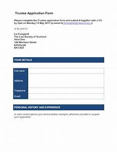 10  Charity Trustee Application Form Templates In Pdf