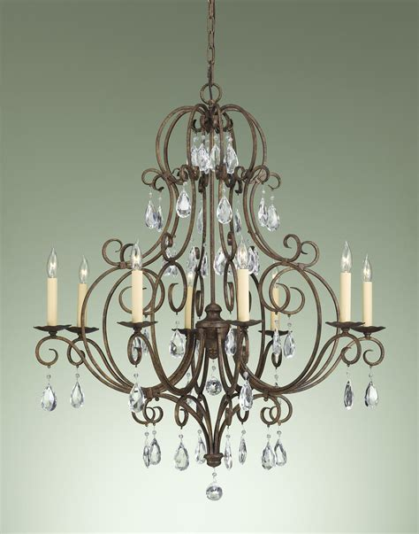 murray feiss f2303 8mbz chateau eight light chandelier