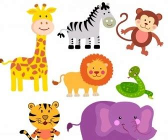 vector safari animals cartoon vector art ai svg eps