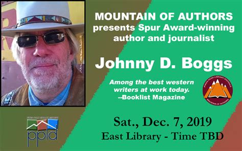 Western Author And Journalist Johnny D Boggs Peakradar Com