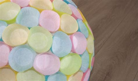 lampenschirme aus muffinfoermchen selbst basteln litiade