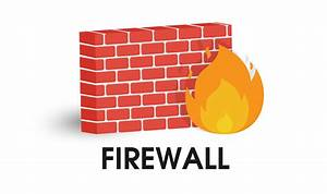 Network Firewall Icon  Illustration Vector On White Background