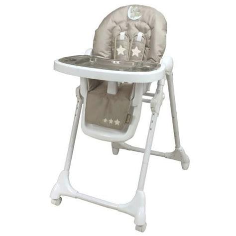 looping chaise haute télescopique lune câline taupe et