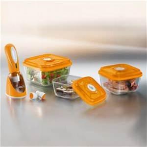 Boite Sous Vide En Verre : mini set vacsy boites sous vide boites sous vide en verre vacsy airblock ~ Melissatoandfro.com Idées de Décoration