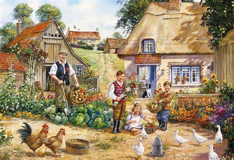 Gibsons The Kitchen Garden Jigsaw Puzzles (2x500 Pieces