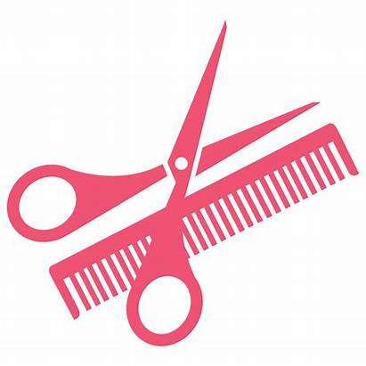 Clipart Pink Hairdresser Scissors Clip Transparent Comb