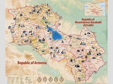 Maps of Armenia Detailed map of Armenia in English