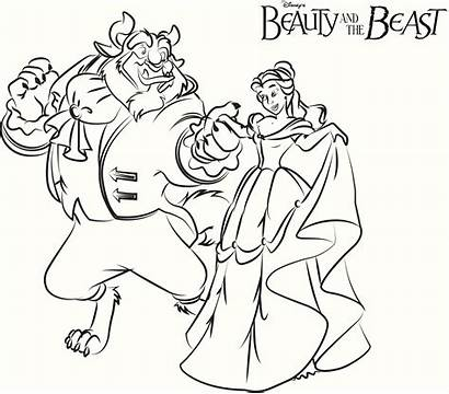 Beast Coloring Beauty Pages Printable Angry Drawing