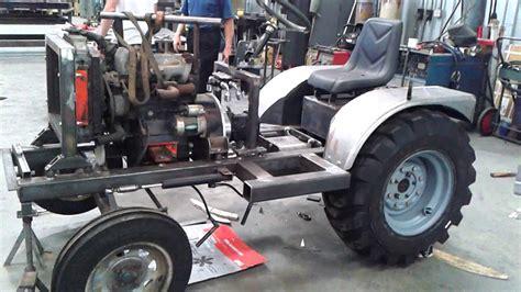 homemade tractor allen smith 39 s homemade tractor part 1 youtube